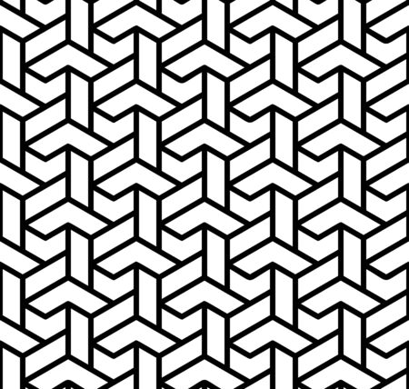 Seamless background for your designs. Modern vector ornament. Geometric abstract black and white pattern Illusztráció