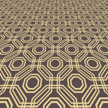 Modern vector pattern. Geometric abstract texture. Graphic geometric golden background with perspective pattern