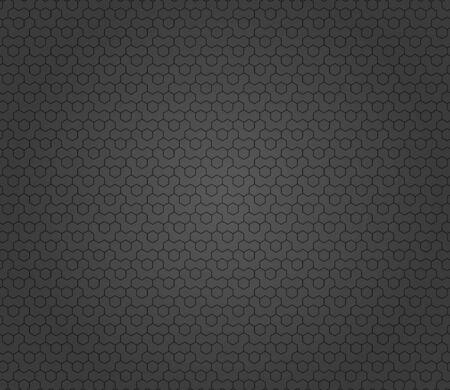 Geometric abstract vector hexagonal dark background. Geometric modern dark ornament. Seamless modern pattern  イラスト・ベクター素材