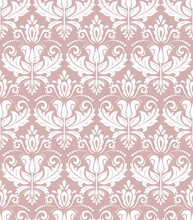 Orient vector classic purple and white pattern. Seamless abstract background with vintage elements. Orient background. Ornament for wallpaper and packaging  イラスト・ベクター素材