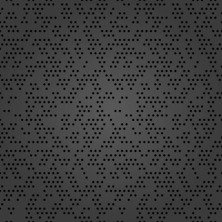 Seamless vector background with random elements. Abstract dotted dark ornament. Dotted abstract pattern 일러스트