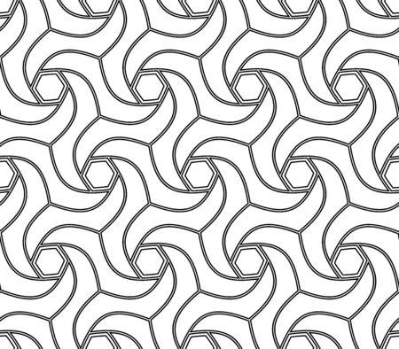 Geometric abstract black and white background. Geometric modern ornament. Seamless modern pattern Reklamní fotografie
