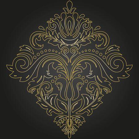 Elegante adorno de oro vector vintage en estilo clásico. Patrón tradicional abstracto con elementos orientales. Patrón vintage clásico Ilustración de vector