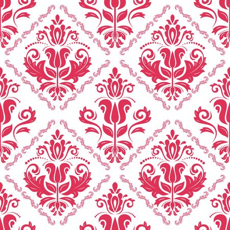 Orient vector classic pattern. Seamless abstract background with vintage red elements. Orient background. Ornament for wallpaper and packaging