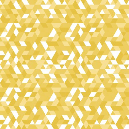 Geometric vector pattern with golden elements. Geometric modern ornament. Seamless abstract background