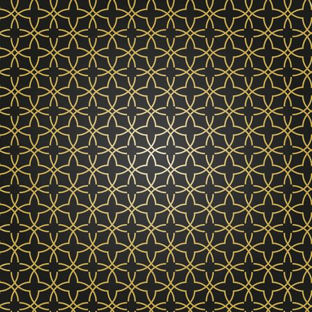 Seamless vector black and golden ornament in arabian style. Geometric abstract background. Pattern for wallpapers and backgrounds Иллюстрация