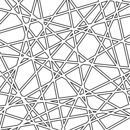 Geometric vector abstract pattern. Geometric modern black and white ornament for designs and backgrounds