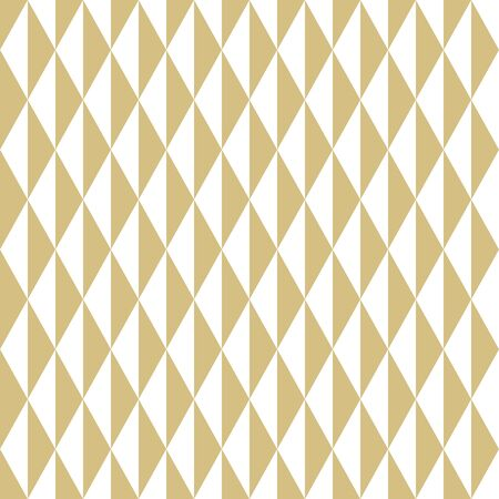 Geometric vector pattern with golden and white triangles. Geometric modern ornament. Seamless abstract background Çizim