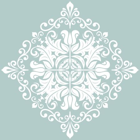Elegant vintage vector white ornament in classic style. Abstract traditional white pattern with oriental elements. Classic vintage pattern