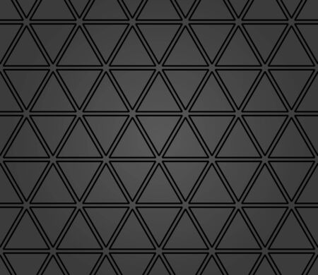 Geometric vector pattern with dark triangles. Geometric modern ornament. Seamless abstract background