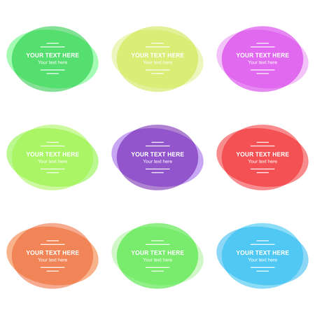 Set of vector colorful banners. Abstract vector shapes for design. Banners with sample text.