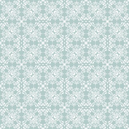 Orient vector classic light blue and white pattern. Seamless abstract background with vintage elements. Orient background. White ornament for wallpaper and packaging Standard-Bild - 133359462
