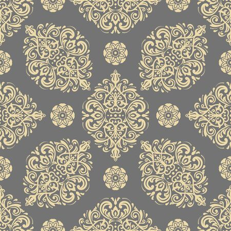 Orient classic pattern. Seamless abstract background with vintage elements. Golden orient background. Ornament for wallpaper and packaging Standard-Bild - 133359470