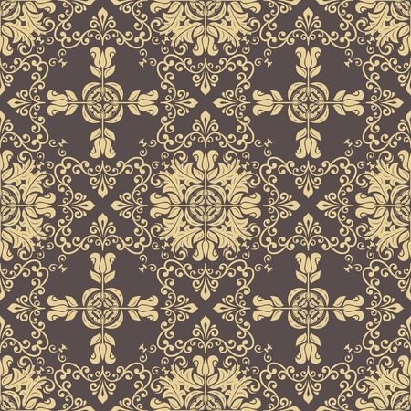 Classic seamless pattern. Damask orient golden ornament. Classic vintage background. Orient ornament for fabric, wallpaper and packaging Standard-Bild - 133359472