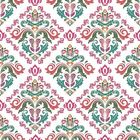 Classic seamless pattern. Damask orient ornament. Classic vintage background. Orient ornament for fabric, wallpaper and packaging 스톡 콘텐츠