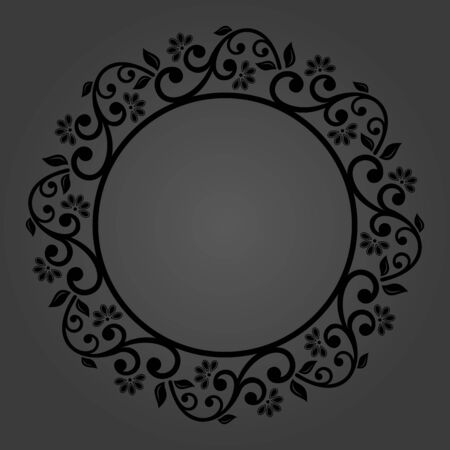 Elegant vintage vector round black ornament in classic style. Abstract traditional pattern with oriental elements. Classic vintage pattern Vector Illustratie
