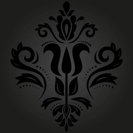 Motif fin de vecteur oriental avec des éléments damassés, arabesques et floraux. Abstrait sans soudure Vecteurs