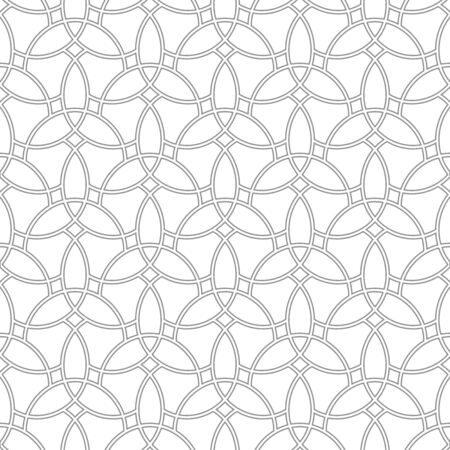Seamless vector ornament. Modern background. Geometric modern light wavy pattern