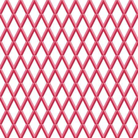 Geometric abstract vector pattern. Geometric modern ornament. Seamless modern background with red rhombuses Ilustracja