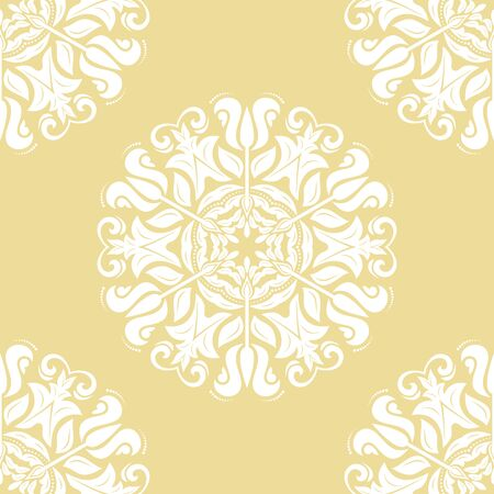 Orient vector classic pattern. Seamless abstract background with vintage white elements. Orient background. Ornament for wallpaper and packaging
