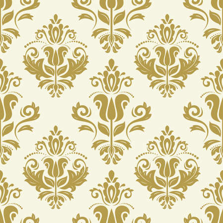 Orient vector classic pattern. Seamless abstract background with vintage golden elements. Orient background. Ornament for wallpaper and packaging Illustration