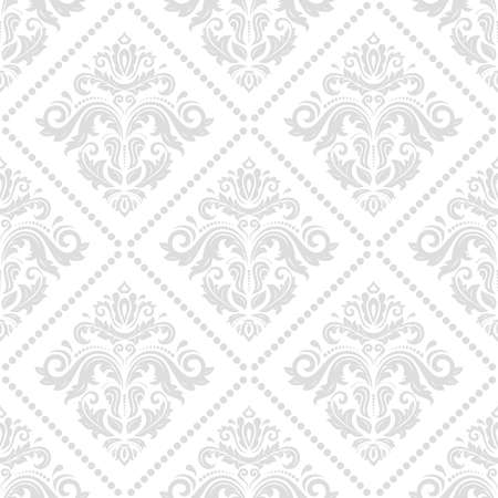 Classic seamless vector pattern. Damask orient ornament. Classic vintage light background. Orient ornament for fabric, wallpaper and packaging Illustration