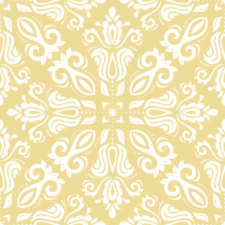 Orient vector classic white pattern. Seamless abstract background with vintage elements. Orient background. Ornament for wallpaper and packaging