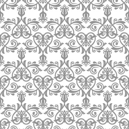 Classic seamless vector pattern. Damask orient ornament. Classic vintage gary background. Orient ornament for fabric, wallpaper and packaging Vectores