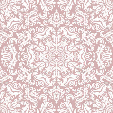 Classic seamless vector pattern. Damask orient white ornament. Classic vintage background. Orient ornament for fabric, wallpaper and packaging