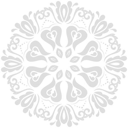 Oriental pattern with arabesques and floral light gray elements. Traditional classic ornament. Vintage pattern with arabesques