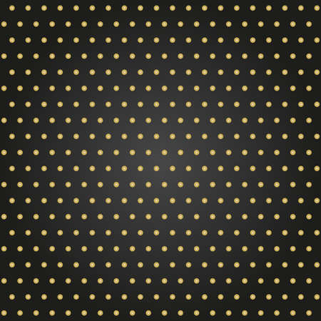 Seamless geometric vector pattern. Modern ornament with golden dotted elements. Geometric black and golden abstract pattern 向量圖像