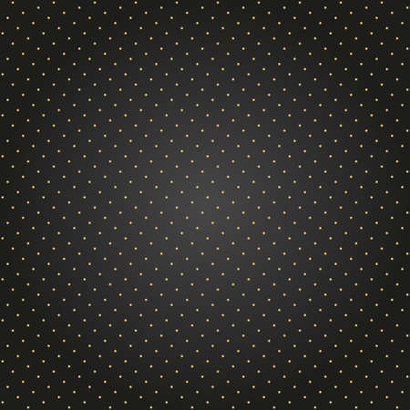 Seamless geometric vector black and golden pattern. Modern ornament with golden dotted elements. Geometric abstract pattern