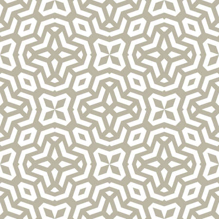 Seamless background for your designs. Modern vector white ornament. Geometric abstract pattern