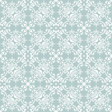 Classic seamless vector pattern. Damask orient ornament. Classic vintage background. Light blue and white orient ornament for fabric, wallpaper and packaging