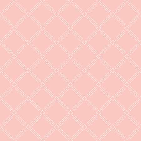 Geometric dotted vector light pink and white pattern. Seamless abstract dotted modern texture for wallpapers and backgrounds 矢量图像