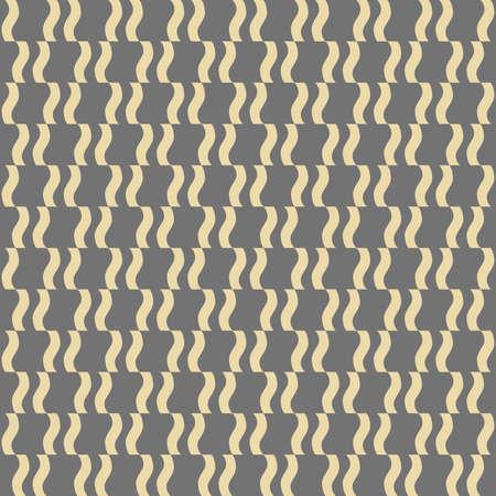 Seamless vector ornament. Modern background. Geometric modern golden wavy pattern