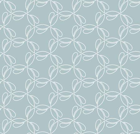 Seamless vector ornament. Modern background. Geometric modern light blue and white pattern