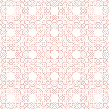 Seamless vector pink ornament in arabian style. Geometric abstract background. Pattern for wallpapers and backgrounds 向量圖像