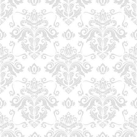 Classic seamless vector pattern. Damask orient light ornament. Classic vintage background. Orient ornament for fabric, wallpaper and packaging