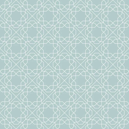 Seamless light blue and white background for your designs. Modern vector ornament. Geometric abstract pattern