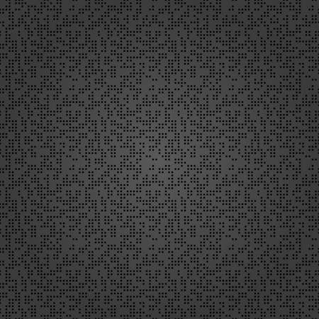 Seamless geometric vector dark pattern. Modern ornament with black dotted elements. Geometric abstract pattern 向量圖像
