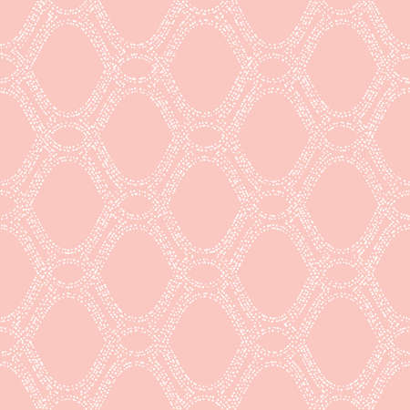 Seamless vector ornament. Modern background. Geometric modern pattern with wavy dotted white lines 向量圖像