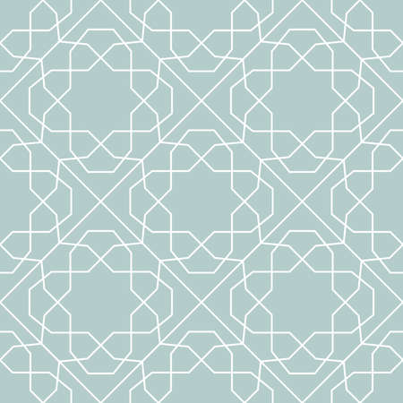 Seamless background for your designs. Modern vector light bue and white ornament. Geometric abstract pattern 向量圖像