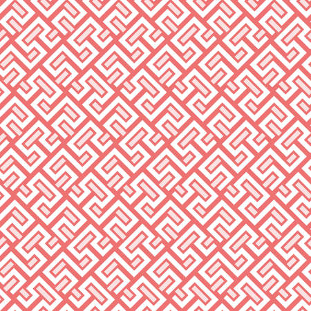 Seamless background for your designs. Modern vector ornament. Geometric abstract red and white pattern 向量圖像
