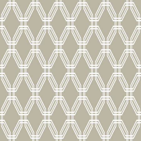 Geometric abstract vector octagonal background. Geometric abstract white ornament. Seamless modern pattern 向量圖像