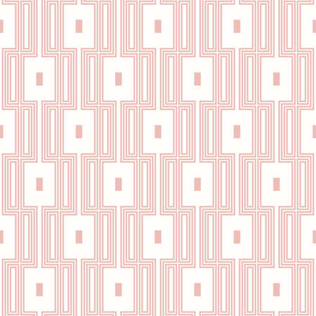 Seamless pink and white background for your designs. Modern vector ornament. Geometric abstract pattern