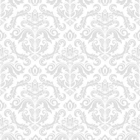 Classic seamless vector pattern. Damask orient light ornament. Classic vintage background. Orient light ornament for fabric, wallpaper and packaging