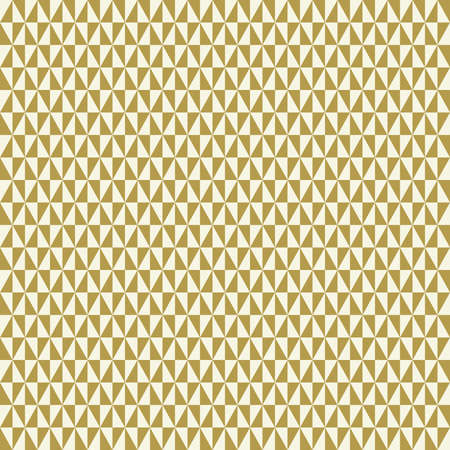 Geometric vector pattern with golden triangles. Geometric modern golden ornament. Seamless abstract background