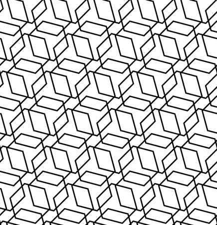 Geometric abstract vector hexagonal background. Geometric black and white modern ornament. Seamless modern pattern 向量圖像
