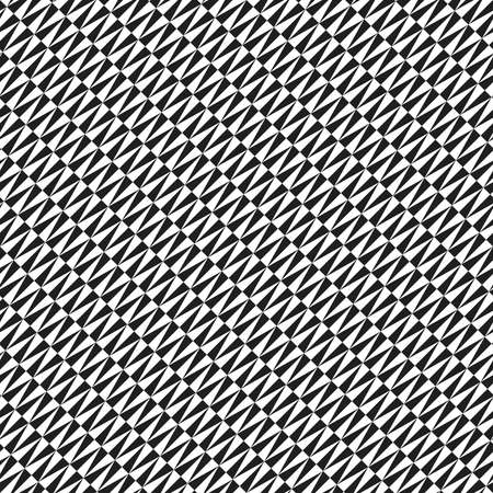 Geometric vector pattern with diagonal black and white triangles. Geometric modern ornament. Seamless abstract background 向量圖像